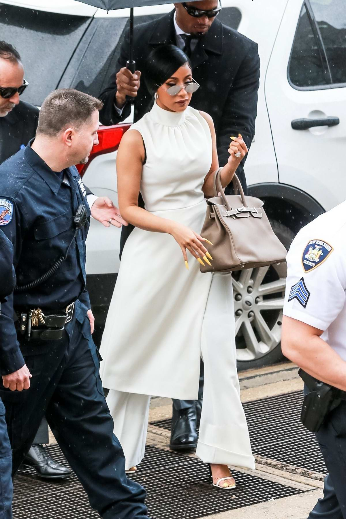 Cardi B arrives to appear in front of New York Criminal Court in New York City