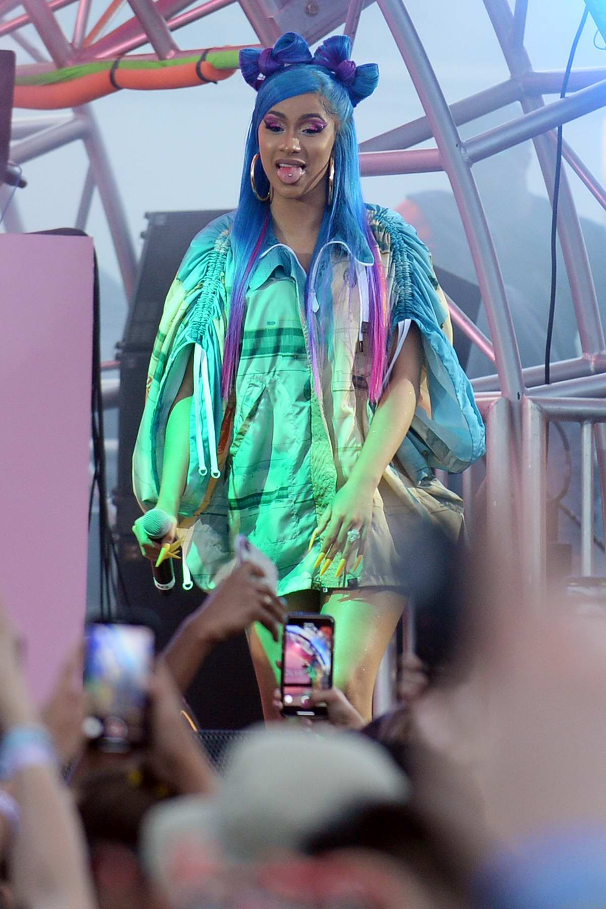 Cardi B performs at Revolvefestival 2019 – Day 2 during Coachella Valley Music and Arts Festival in Indio, California