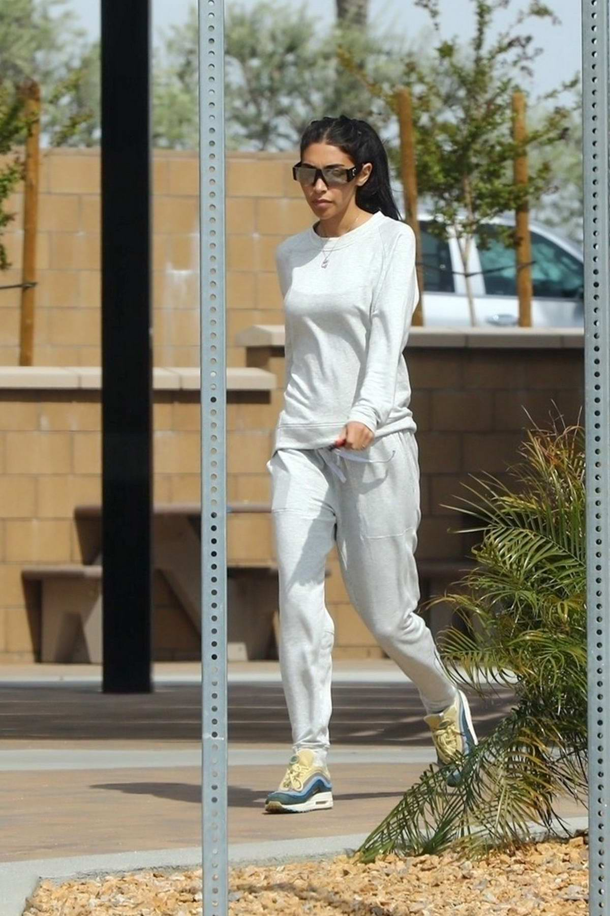 Chantel Jeffries stops for burritos at Chipotle Mexican Grill in Palm Springs, California