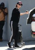 Charlize Theron enjoys a day out with her kids while shopping at the Farmer's Market in Studio City, Los Angeles
