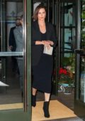 Charlize Theron keeps it stylish in an all black ensemble as she steps out for dinner in New York City
