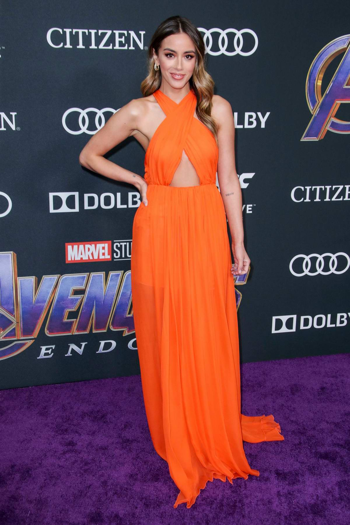 Chloe Bennet attends the World Premiere of 'Avengers: Endgame' at the LA Convention Center in Los Angeles