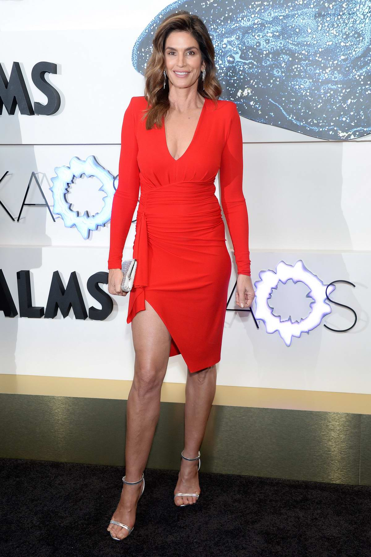 Cindy Crawford attends the KAOS Grand Opening at Palms Casino Resort in Las Vegas, Nevada