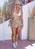 Cindy Kimberly attends the Revolve Festival at Coachella in Indio, California