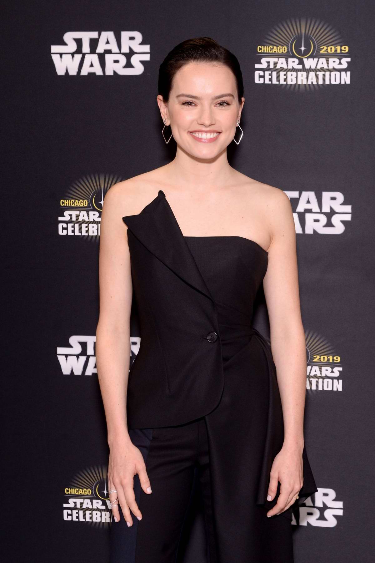 Daisy Ridley attends Star Wars Celebration: 'The Rise of Skywalker' Panel in Chicago