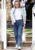 Dakota Fanning spotted as she looks at a property with an agent in Toluca Lake, California