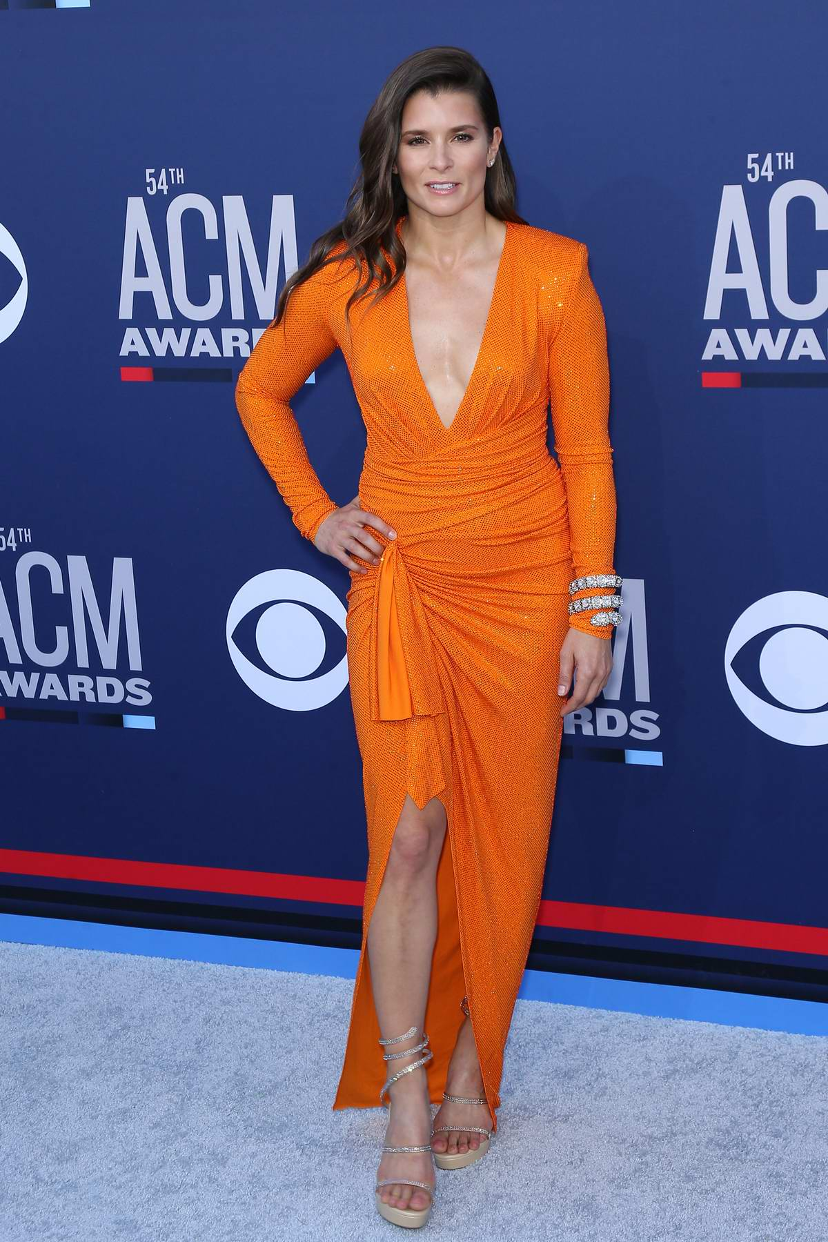 Danica Patrick attends the 54th Academy of Country Music Awards (ACM 2019) at MGM Grand in Las Vegas, Nevada