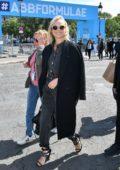 Diane Kruger visits the stands prior to the Formula E Grand Prix in Paris, France