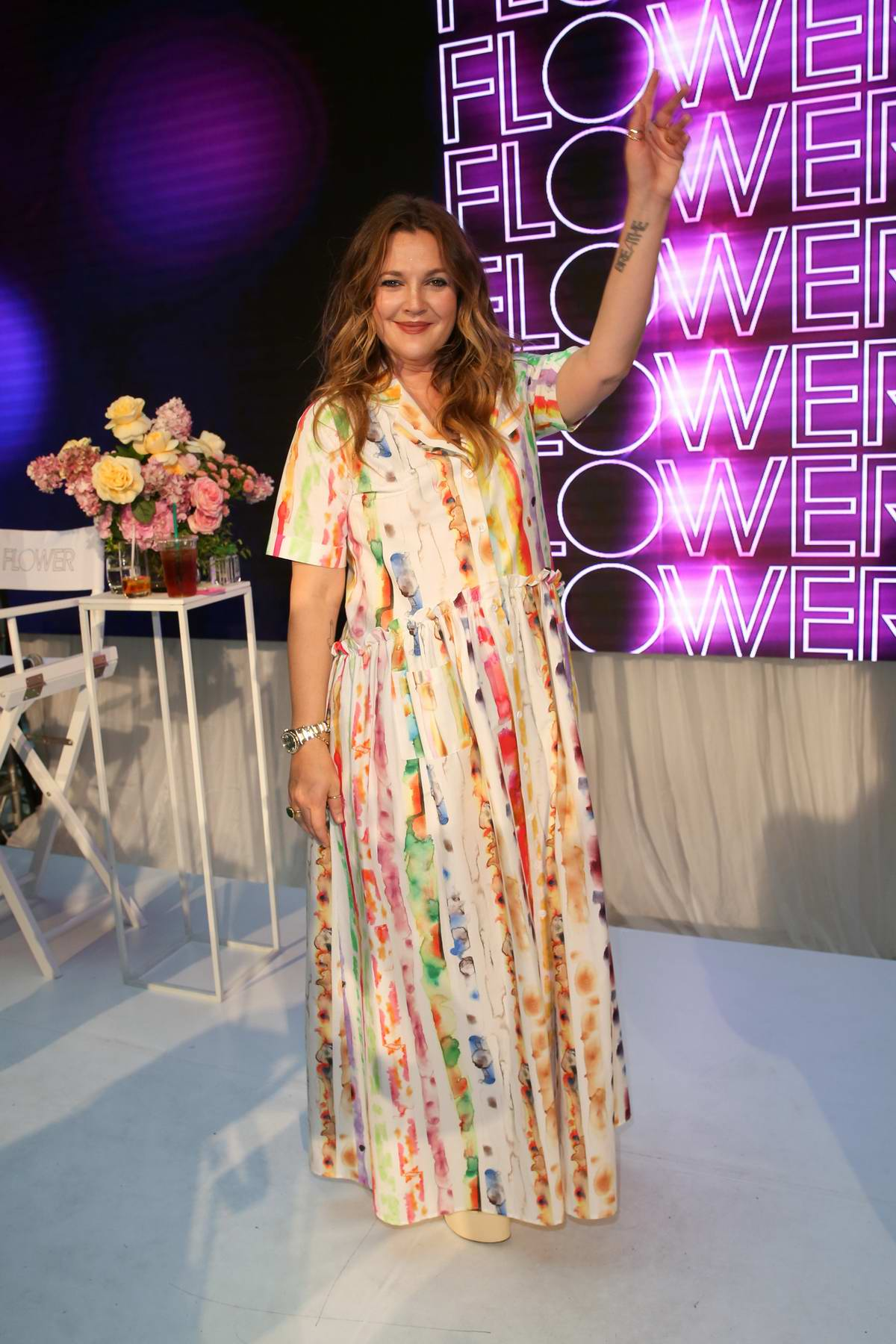 Drew Barrymore at the FLOWER Beauty Launch Event at Westfield Parramatta in Sydney, Australia