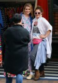 Drew Barrymore keeps it casual while enjoying some shopping at the local market in Sydney, Australia