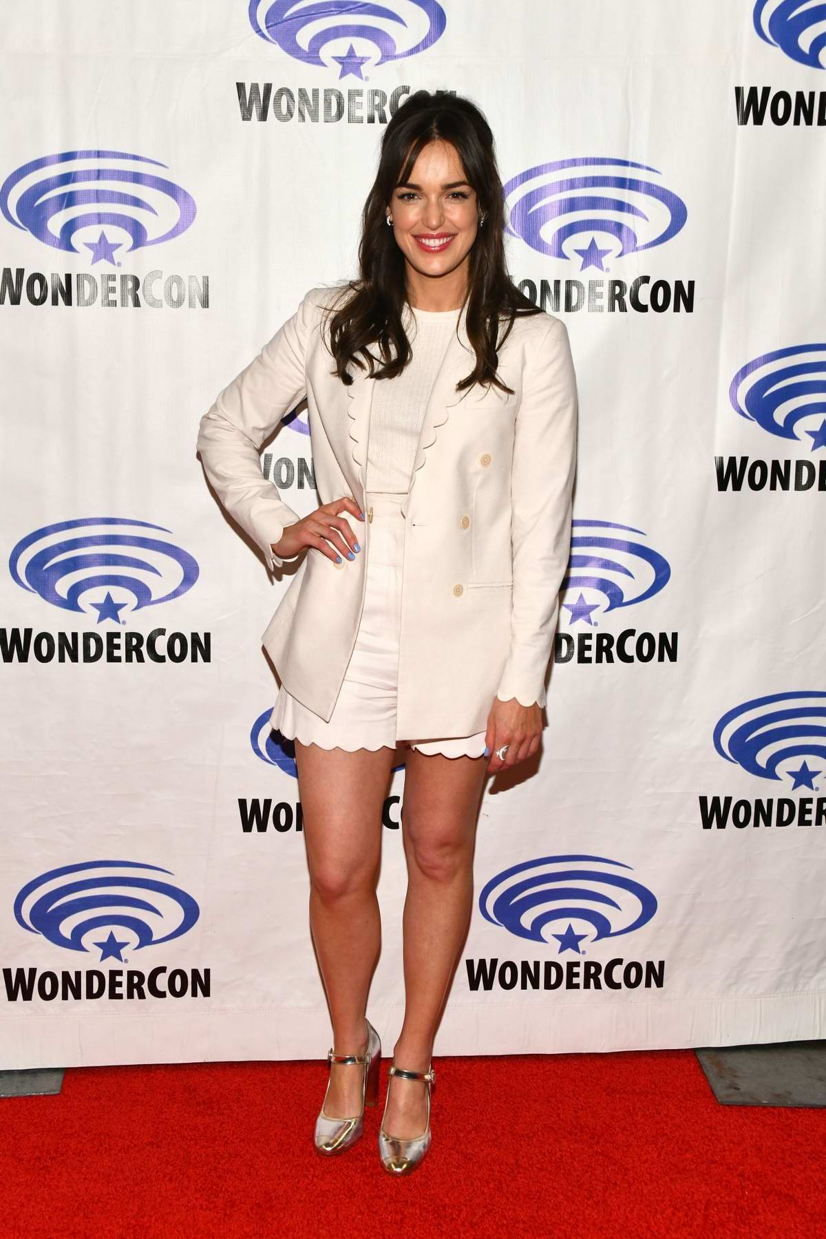 Elizabeth Henstridge attends 'Marvel's Agents of S.H.I.E.L.D.' Press Line during WonderCon 2019 in Anaheim, California