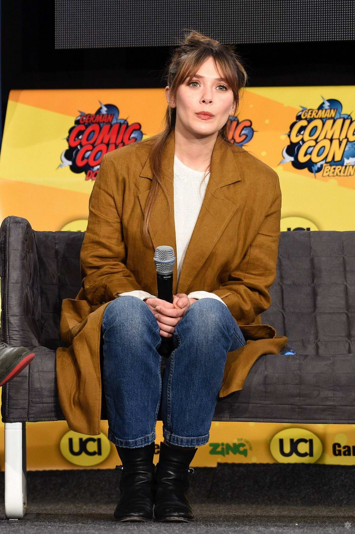 Elizabeth Olsen attends the 5th German Comic Con Dortmund 2019 in Dortmund, Germany