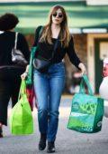 Elizabeth Olsen picks up groceries at Whole Foods in Los Angeles