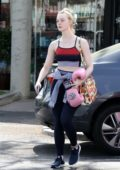 Elle Fanning seen leaving after her boxing practice at a gym in Rancho Santa Margarita, California