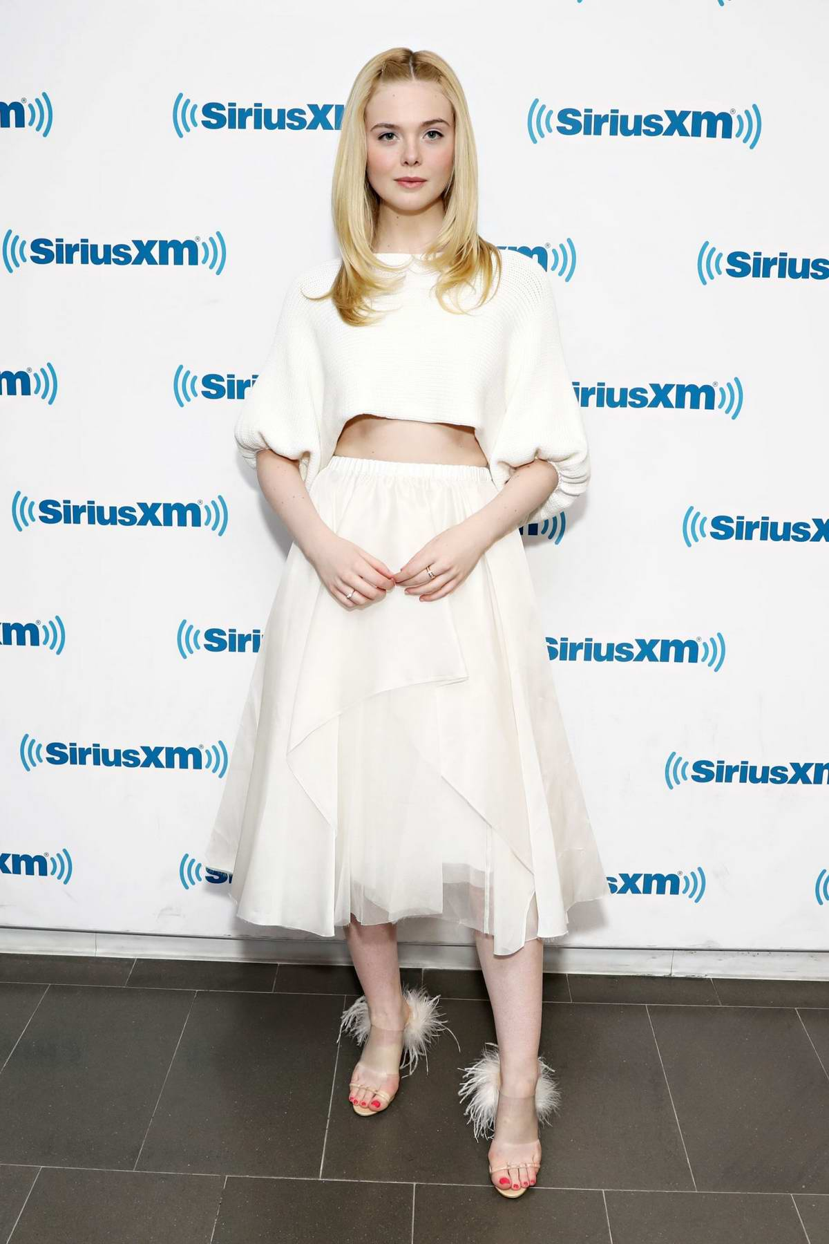 Elle Fanning visits the SiriusXM Studios in New York City
