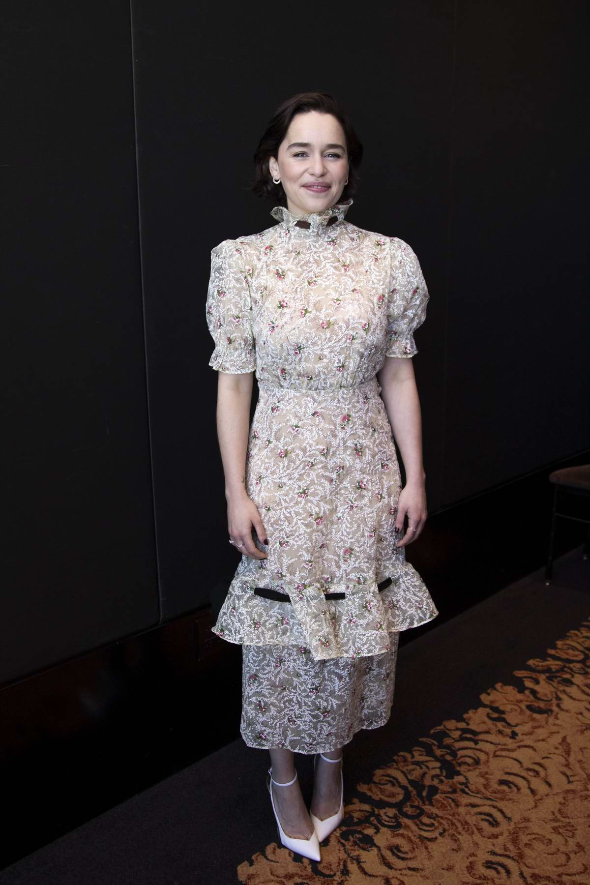 Emilia Clarke attends Game Of Thrones Press Conference and Photocall at the Mandarin Oriental Hotel, New York City