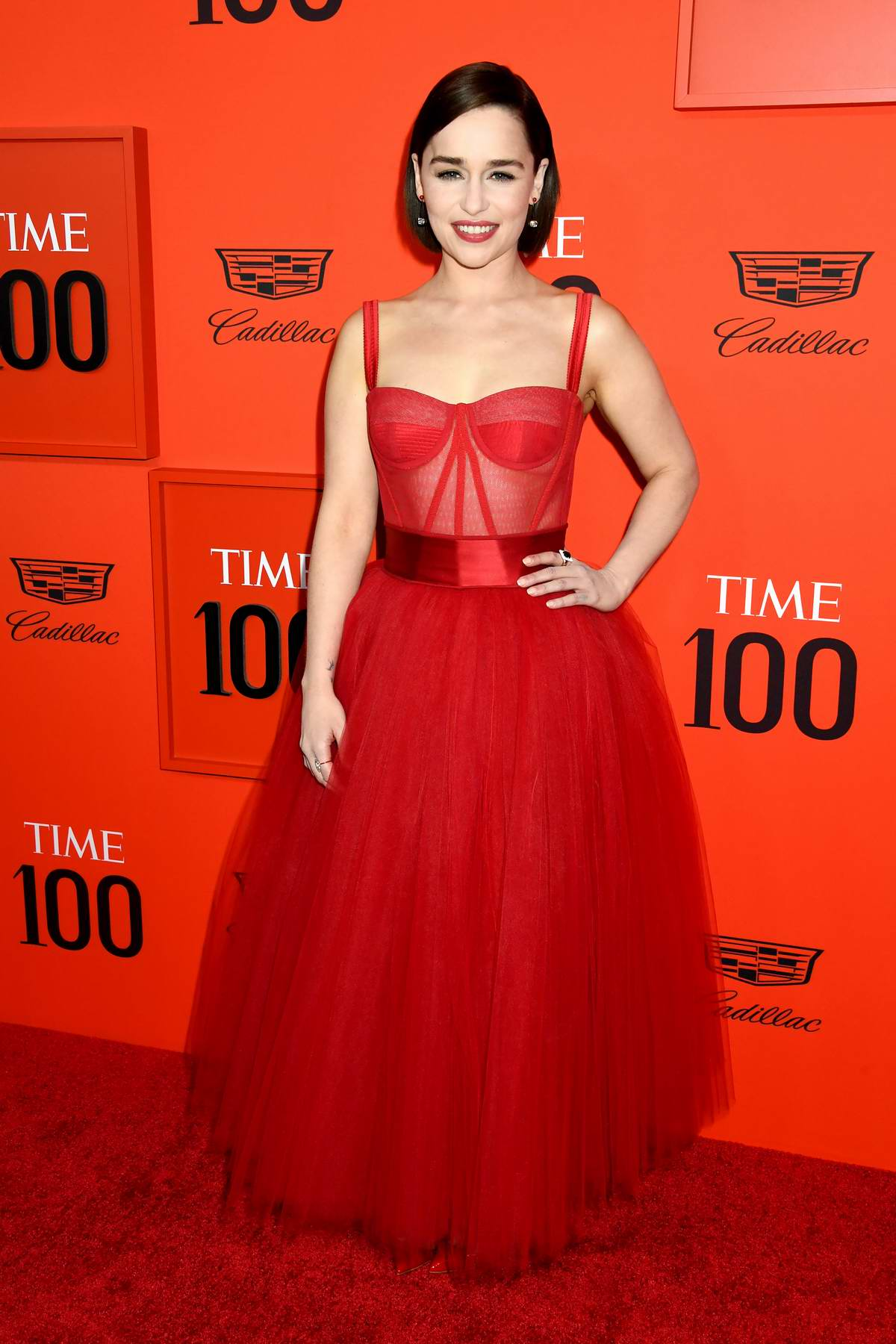 Emilia Clarke attends the TIME 100 Gala 2019 at Jazz at Lincoln Center in New York City