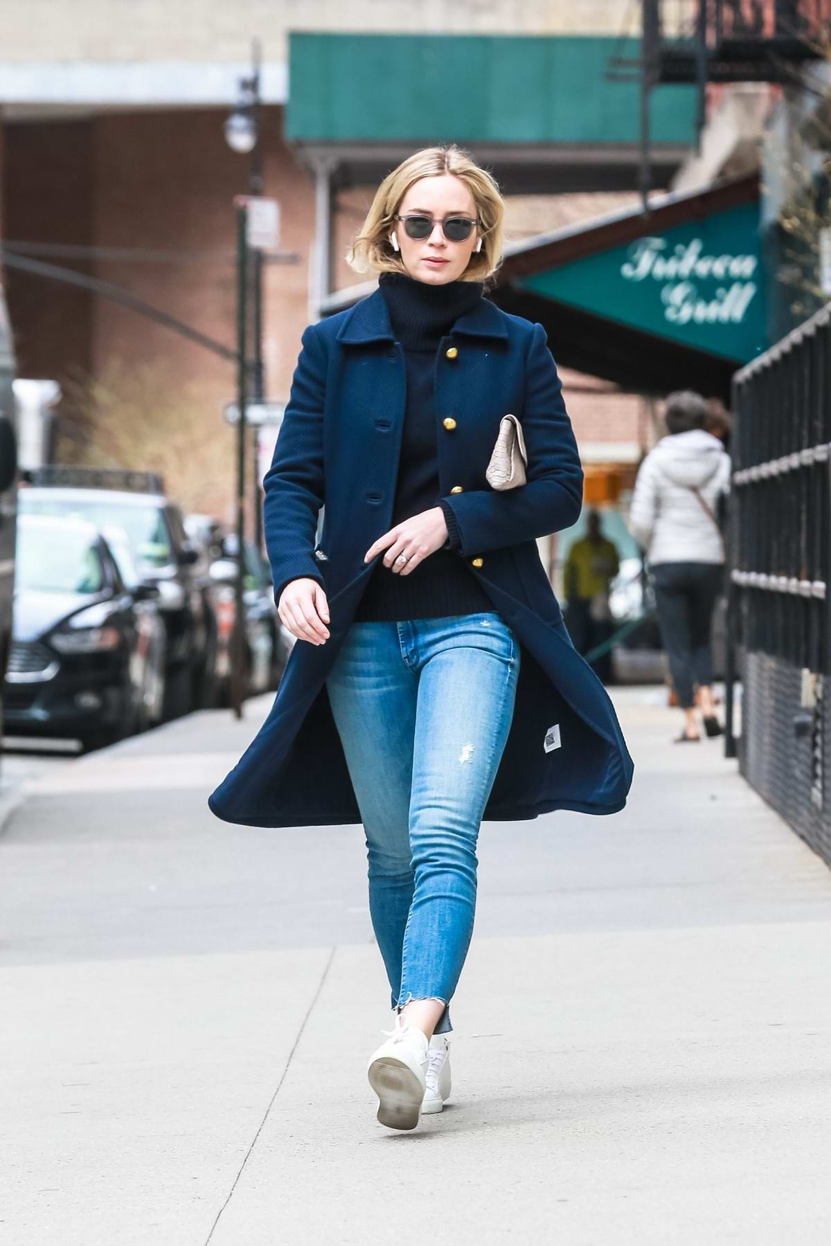 Emily Blunt Embraces The Spring Weather As She Enjoys A