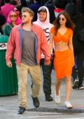 Emily Ratajkowski and husband Sebastian Bear-McClard gets in some PDA while out on a brunch date in New York City