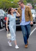 Emma Roberts and boyfriend Garrett Hedlund shop for some Easter gifts at Albertson's in Los Angeles