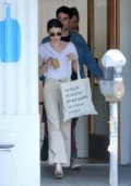 Emma Roberts meets up for breakfast with Darren Criss and wife Mia Swier in Los Angeles