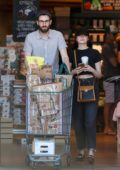 Emma Stone and Dave McCary shops groceries at the Bristol Farms in Los Angeles