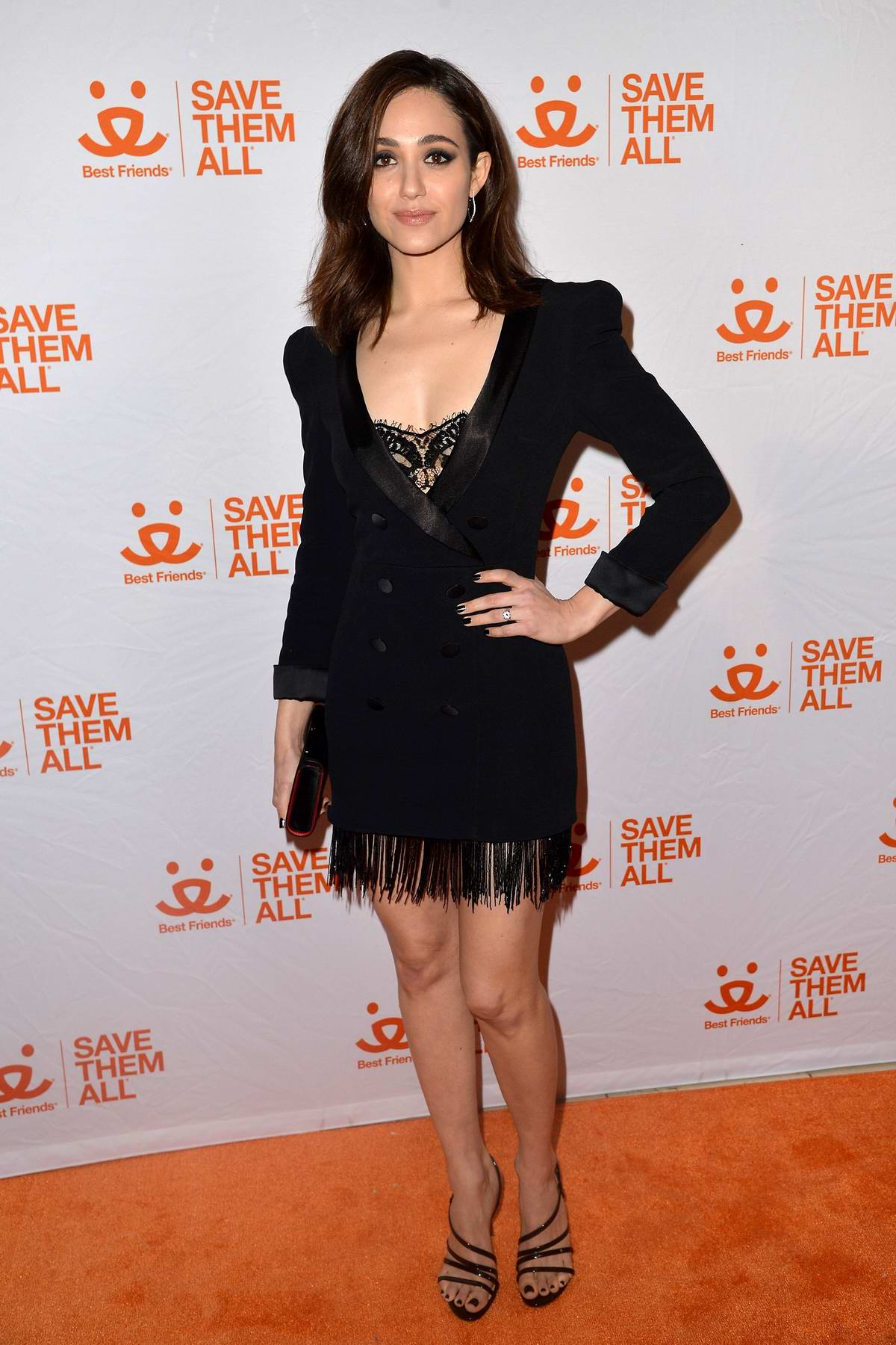 Emmy Rossum attends the Animal Society Best Friends Benefit in New York City