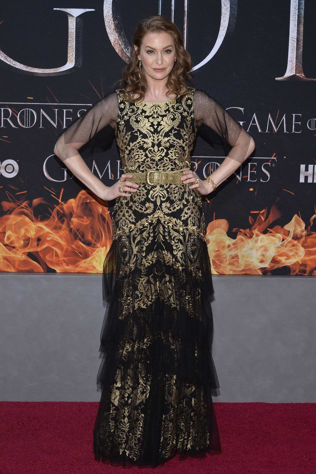 Esme Bianco attends the Season 8 premiere of 'Game of Thrones' at Radio City Music Hall in New York City