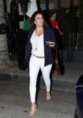 Eva Longoria enjoys a dinner with her parents at Madeo in Beverly Hills, Los Angeles