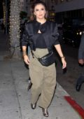 Eva Longoria grabs dinner with her Mom and husband Jose Baston at Mr Chow Restaurant in Beverly Hills, Los Angeles