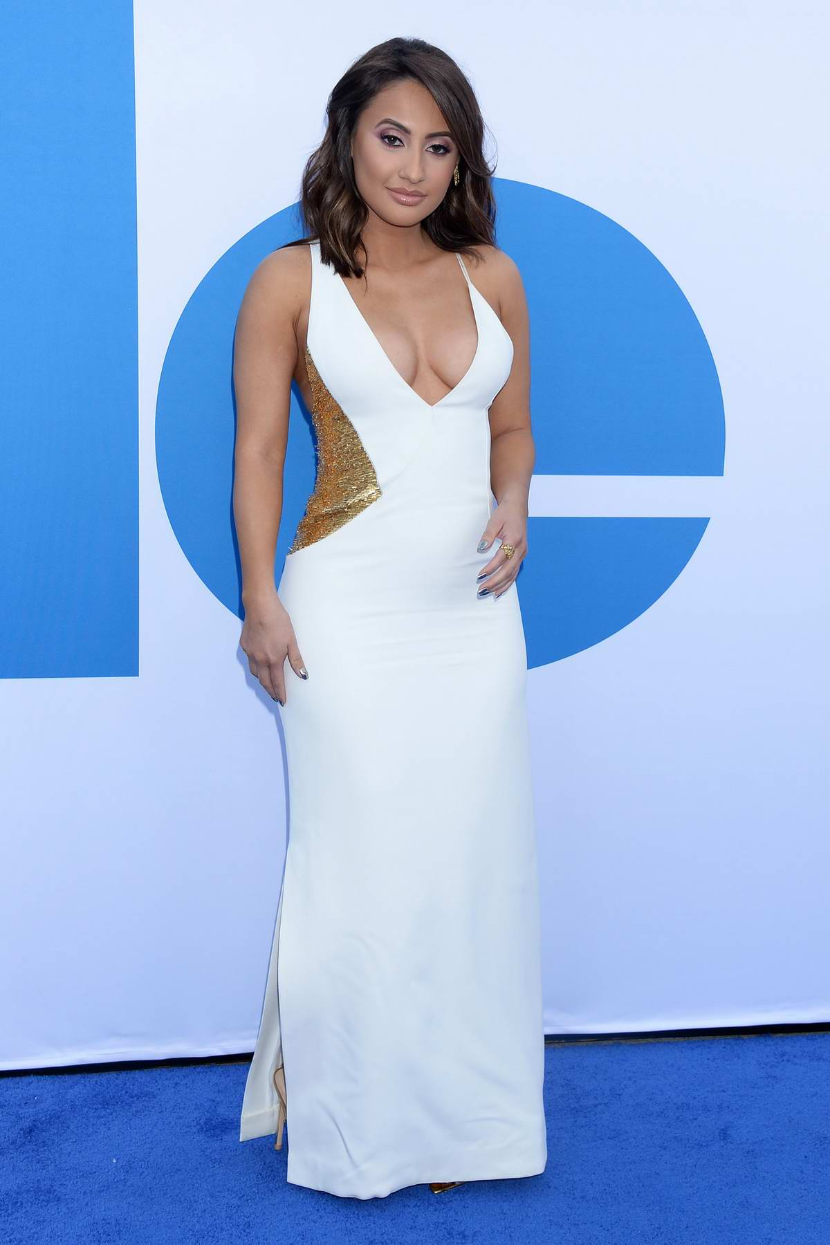 Francia Raisa attends 'Little' Hollywood Premiere at Regency Village Theater in Westwood, California