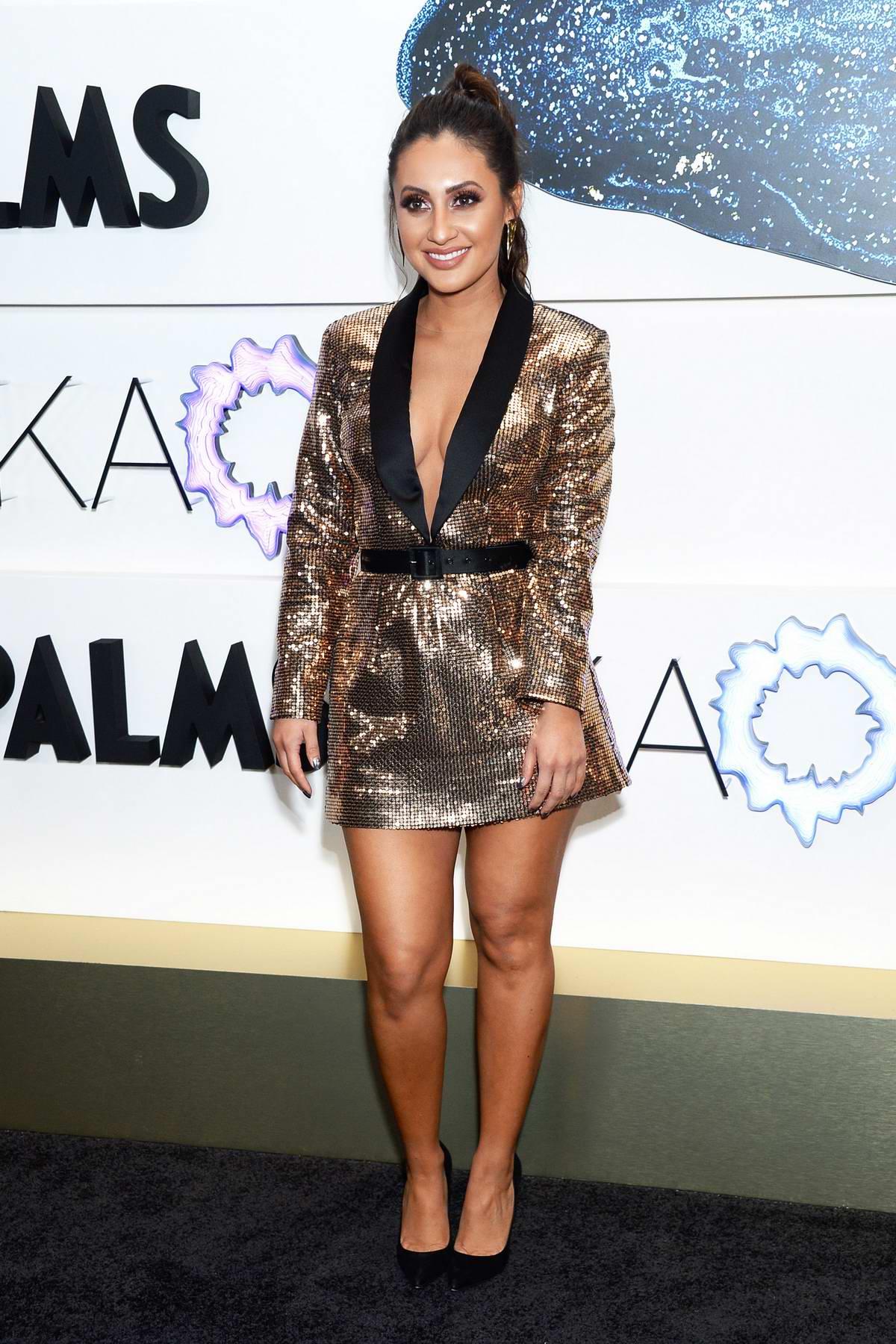 Francia Raisa attends the KAOS Grand Opening at Palms Casino Resort in Las Vegas, Nevada