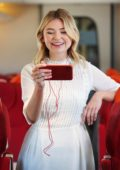 Georgia Toffolo promotes Vodafone's Red Entertainment Plan in London, UK