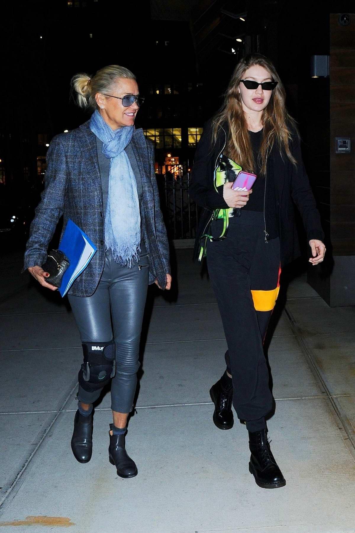 Gigi Hadid and Yolanda Hadid grab dinner at the Bondst restaurant in New York City