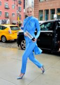 Gigi Hadid is all smiles while out with her Variety award after the show in New York City