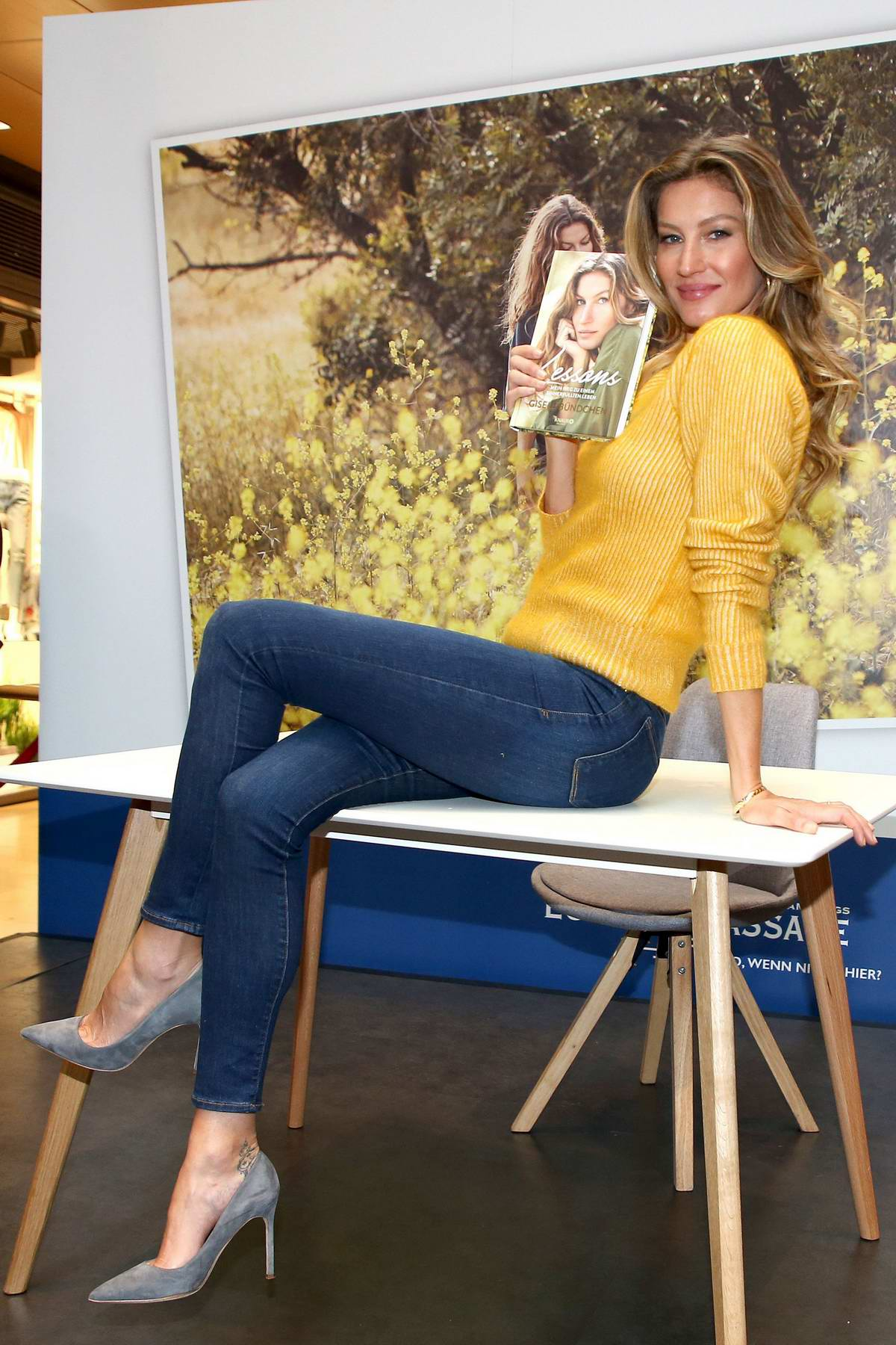 Gisele Bundchen at her 'Lessons' book signing in Hamburg, Germany