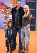 Gwen Stefani and Blake Shelton with her kids attend the World Premiere of 'UglyDolls' at Regal Cinemas in Los Angeles