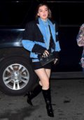Hailee Steinfeld arrives to Gigi Hadid's denim themed birthday party in New York City