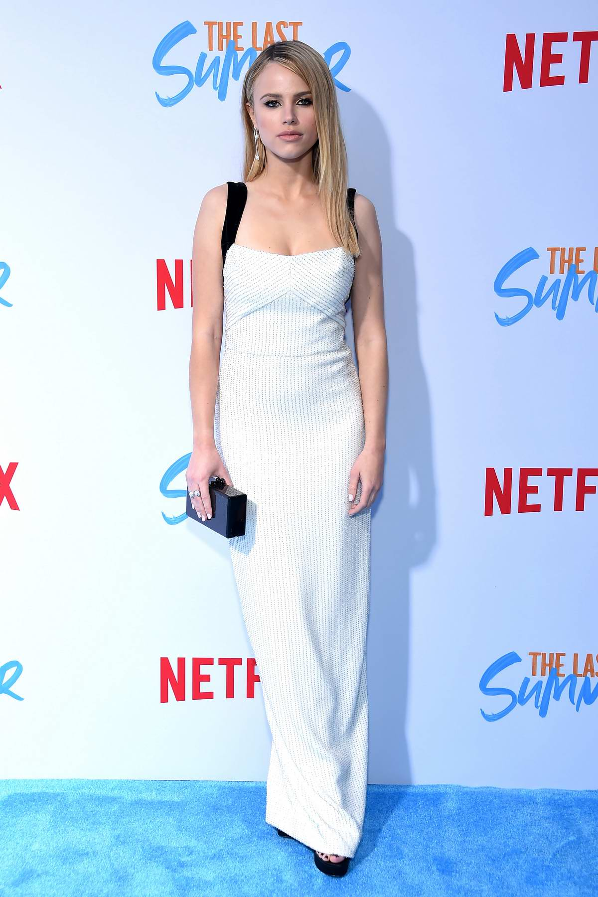 Halston Sage attends the screening of Netflix's 'The Last Summer' at TCL Chinese Theatre in Hollywood, California