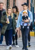 Hilary Duff and Matthew Koma enjoys a stroll with their daughter in the East Village of New York City