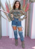 Isabela Moner attends the Revolve Festival at Coachella in Indio, California