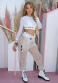 Jasmine Sanders attends Revolvefestival 2019 - Day 2 during Coachella Valley Music and Arts Festival in Indio, California