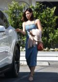 Jenna Dewan spotted in a denim dress while out with friend in Los Angeles