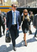 Jennifer Lopez and Alex Rodriguez are dressed to impress ahead of a meeting at the Hudson Yard in New York City