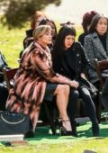 "Jennifer Lopez and Constance Wu film a scene for ""Hustlers"" at The Woodlawn Cemetery in New York City"