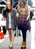 Jennifer Lopez and Madeline Brewer spotted on set of upcoming movie, 'Hustlers' in New York City