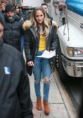 Jennifer Lopez films 'Hustlers' at an Old Navy in the Bronx, New York City