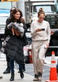 Jennifer Lopez spotted in sweats as she arrives on the set 'The Hustlers' with sister Lynda in New York City