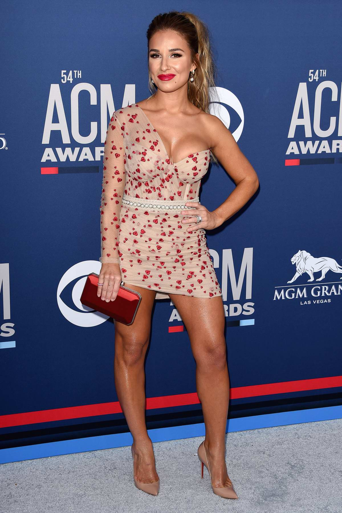 Jessie James Decker attends the 54th Academy of Country Music Awards (ACM 2019) at MGM Grand in Las Vegas, Nevada