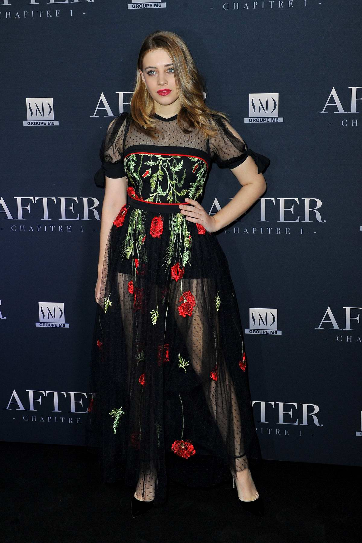 Josephine Langford attends 'After - Chapter 1' movie premiere at the Hotel Royal Monceau in Paris, France